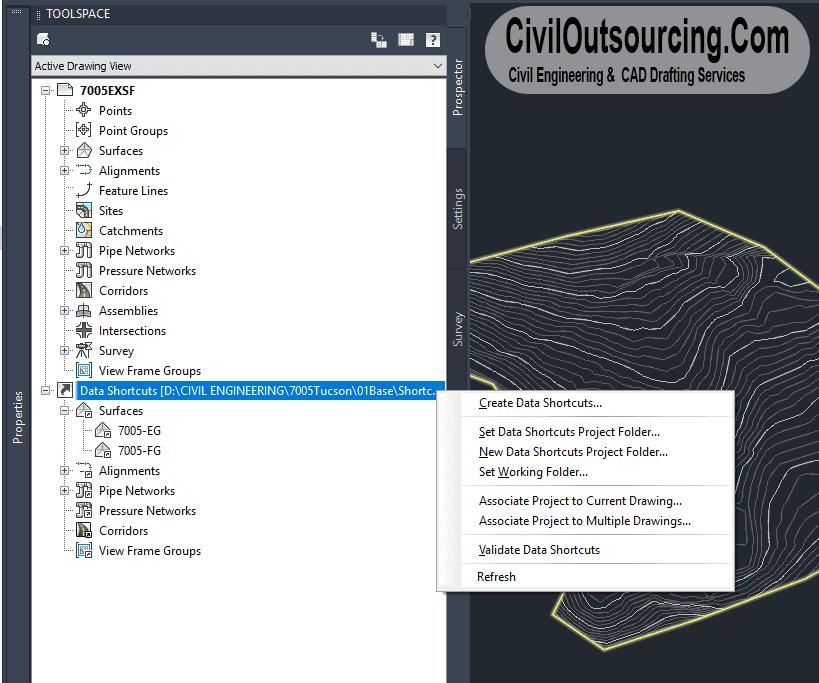 Data Shortcuts