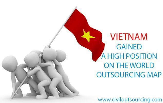 VIETNAM GAINED A HIGH POSITION ON THE WORLD OUTSOURCING MAP