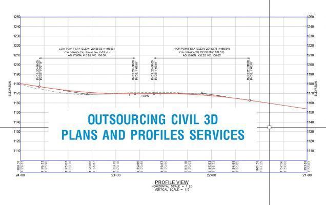 outsourcing civil 3d plans and profiles