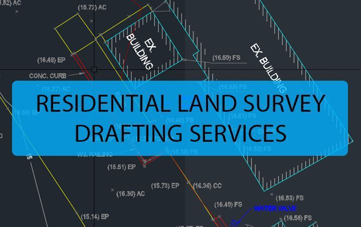 residential land survey drafting services